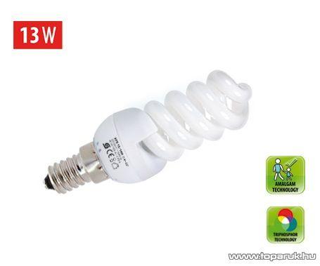 HOME KFS 13/14H Kompakt fénycső, spirál, 13 W / E 14 / 4200 K / 826 lm