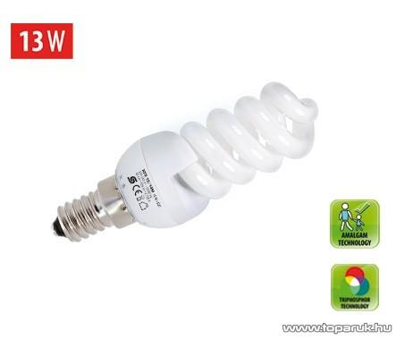 HOME KFS 13/14M Kompakt fénycső, spirál, 13 W / E 14 / 2700 K / 826 lm