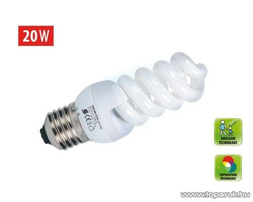 HOME KFS 20/27H Kompakt fénycső, spirál, 20 W, E 27, 4200 K