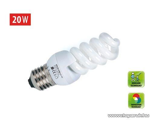 HOME KFS 20/27M Kompakt fénycső, spirál, 20 W, E 27, 2700 K