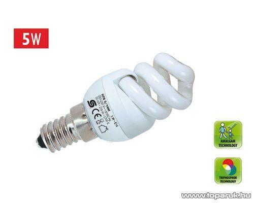 HOME KFS 5/14M Kompakt fénycső, spirál, 5 W, E 14, 2700 K