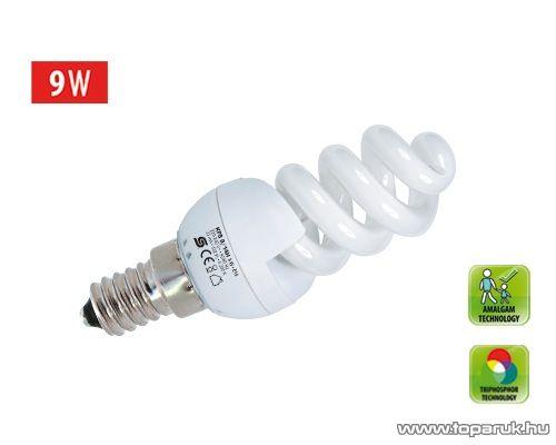 HOME KFS 9/14H Kompakt fénycső, spirál, 9 W, E 14, 4200 K