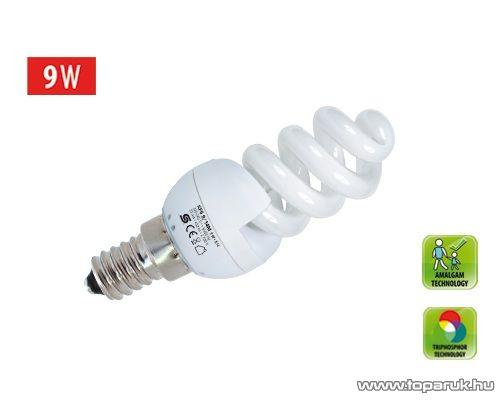 HOME KFS 9/14M Kompakt fénycső, spirál, 9 W, E 14, 2700 K