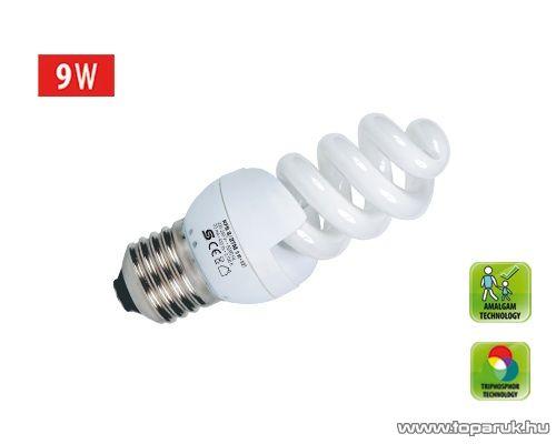 HOME KFS 9/27M Kompakt fénycső, spirál, 9 W, E 27, 2700 K