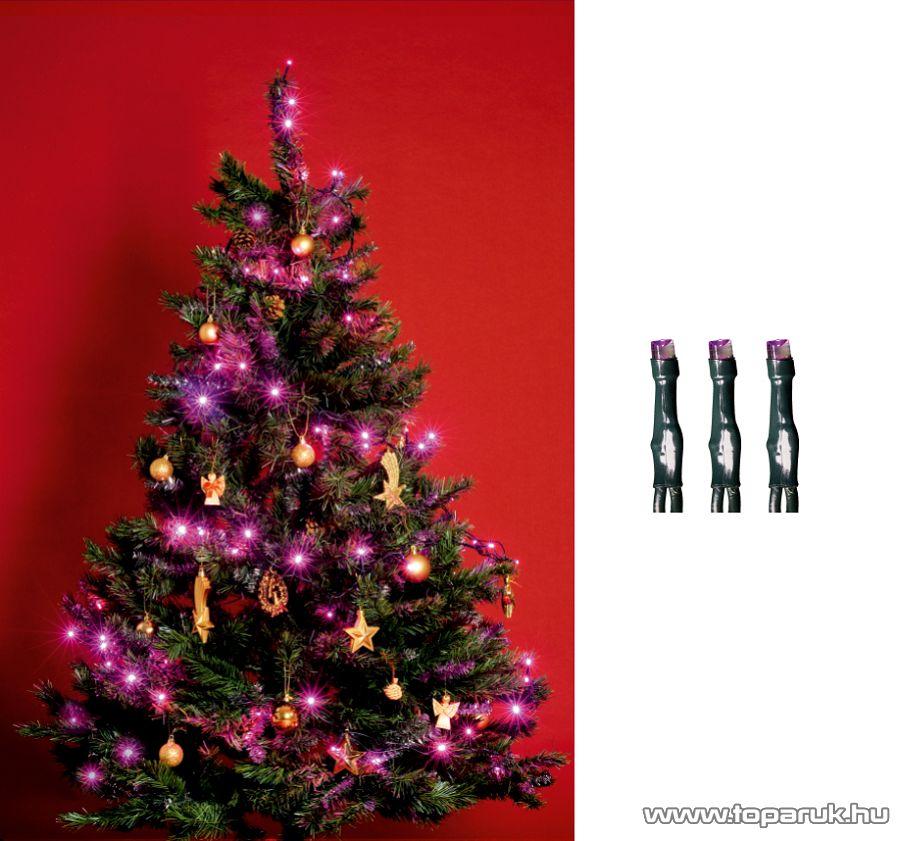 HOME KI 200 LED/P Beltéri LED-es fényfüzér, 200 db LED, 16 m hosszú, pink (rózsaszín) fényű