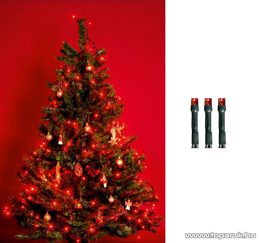 HOME KI 200 LED/R Beltéri LED-es fényfüzér, 200 db LED, 16 m hosszú, piros fényű