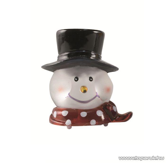 HOME KID 340/H Beltéri 1 LED-es, elemes hóember figura asztali dísz, fehér világítással