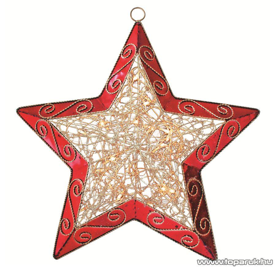 HOME KID 20 Beltéri csillag alakú világító ablakdísz, piros - megszűnt termék: 2014. november