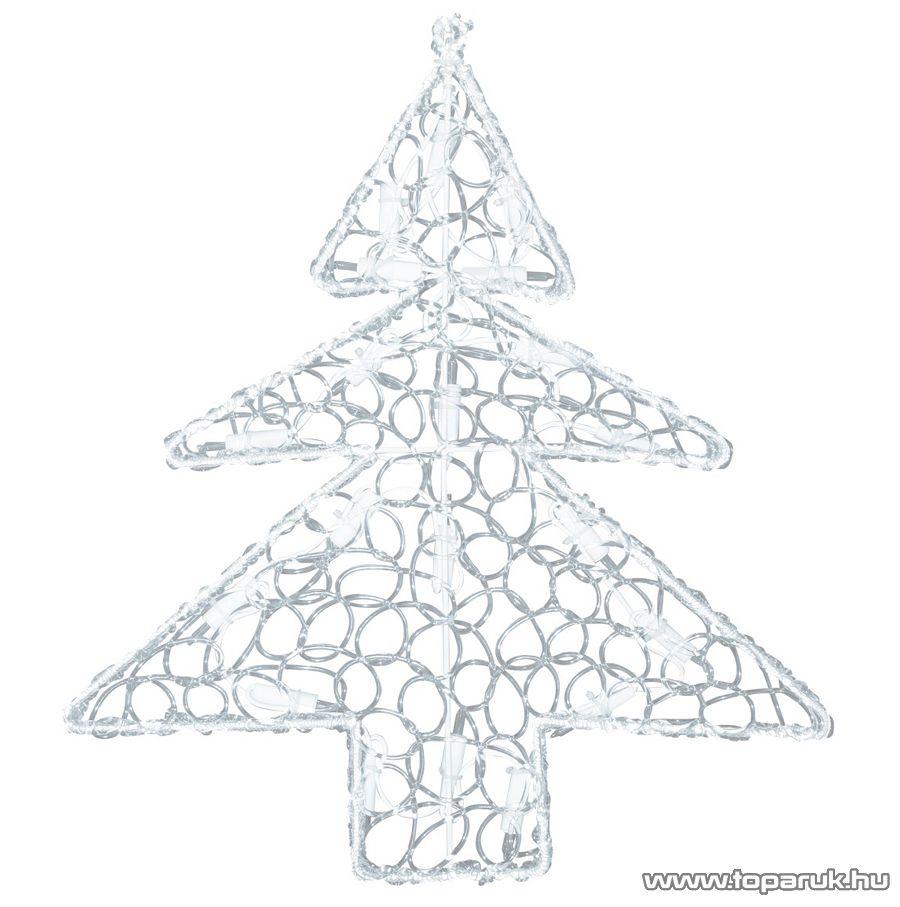 HOME KID 210 Fényes műanyag fenyőfa ablakdísz - készlethiány