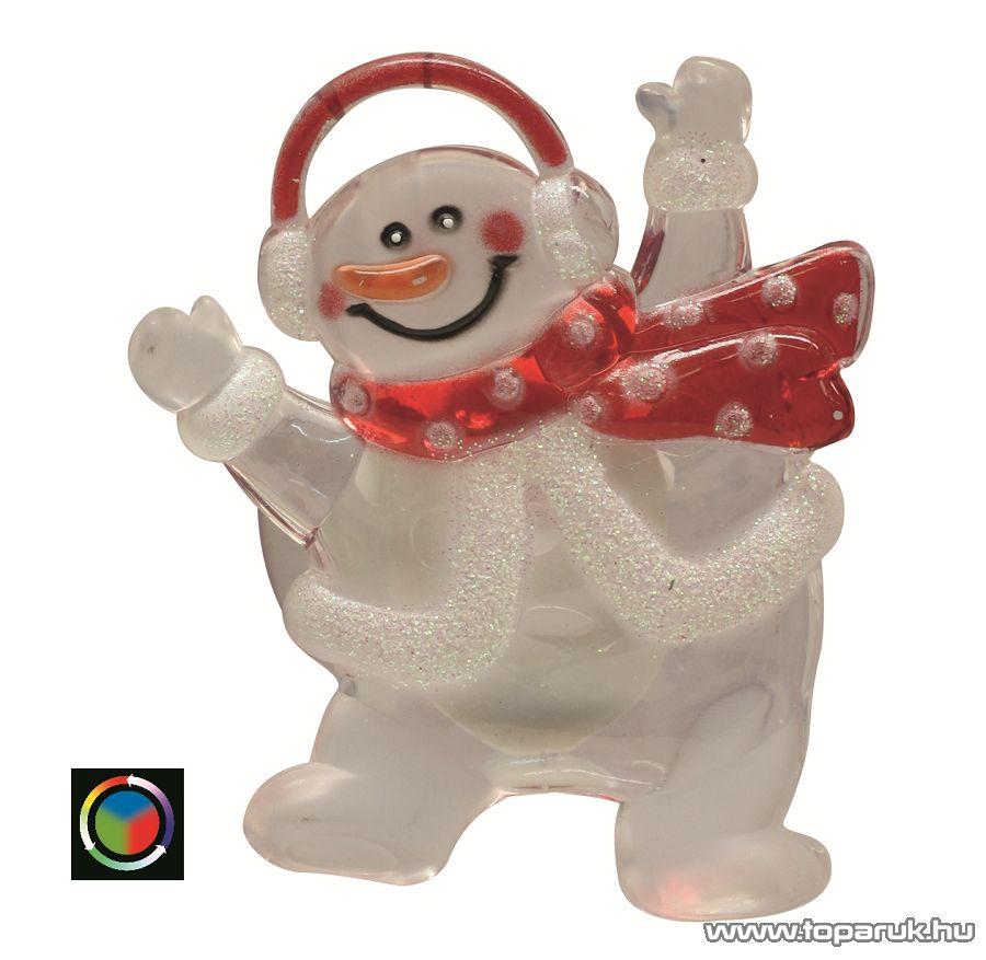 HOME KID 322 Beltéri LED-es ablakdísz, hóember dekoráció