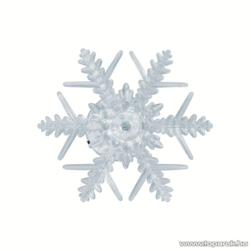 HOME KID 331/WH Beltéri LED-es ablakdísz, csillag dekoráció, 1 db hideg fehér LED-del