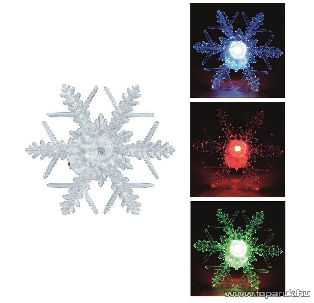 HOME KID 331 Beltéri LED-es ablakdísz, csillag dekoráció, 1 db színváltó LED-del