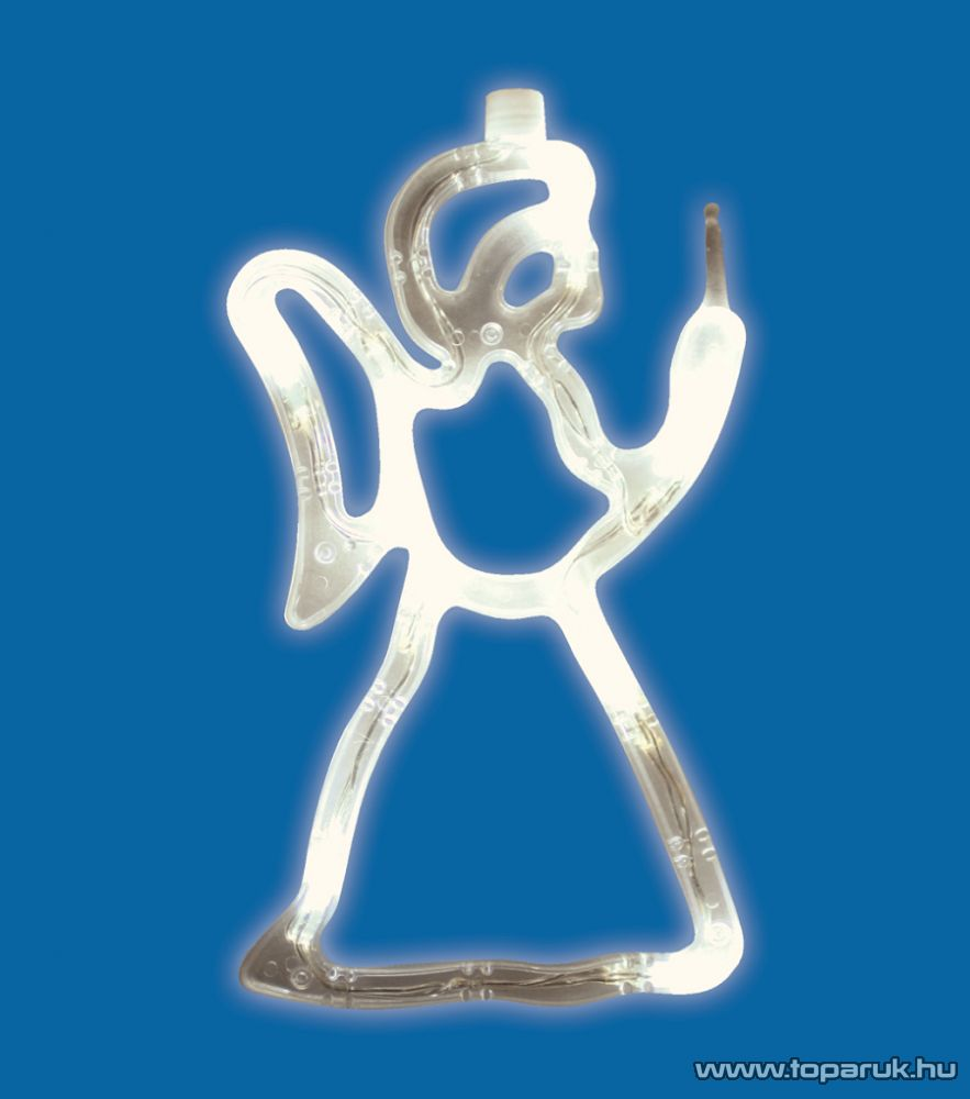HOME KID 413 Beltéri LED-es ablakdísz, angyal dekoráció, 8 db meleg fehér fényű leddel