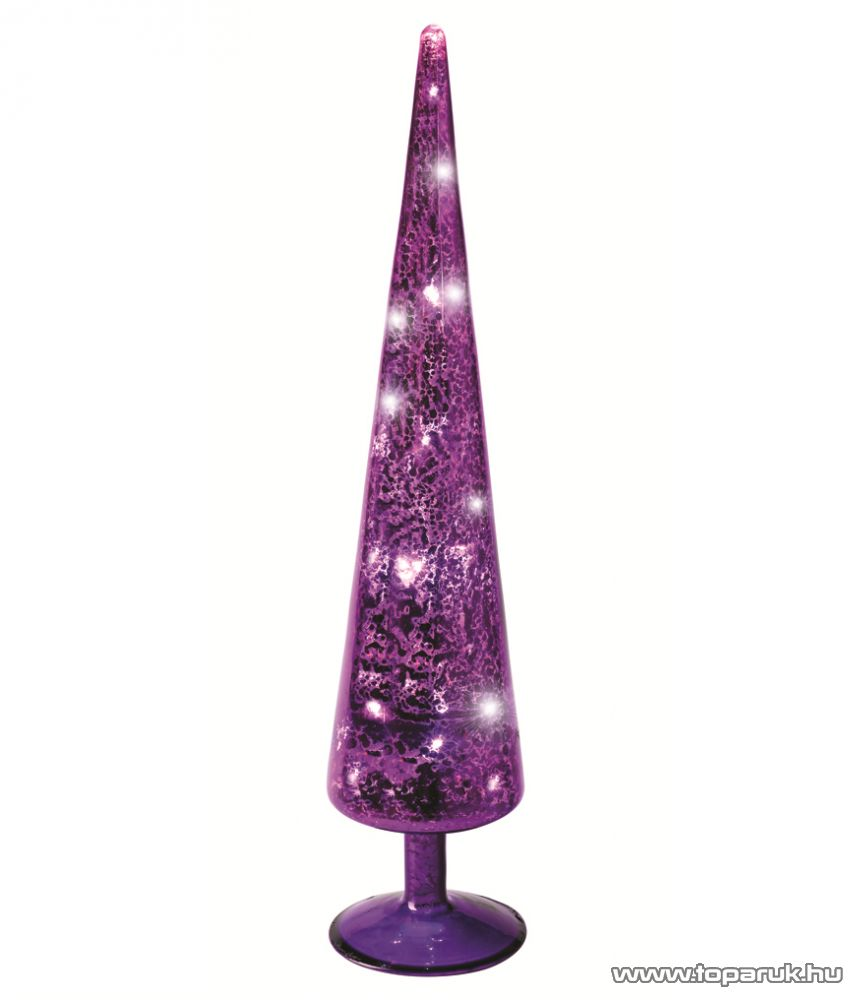 HOME KIG 38/PL LED-es gúla dísz, lila, 38 cm - készlethiány