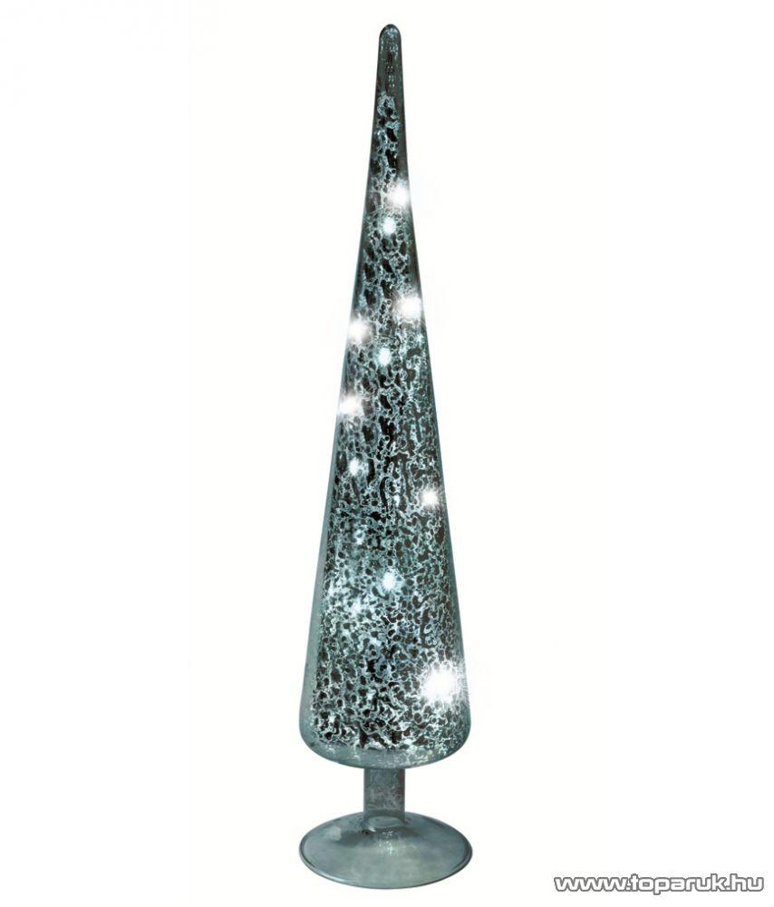 HOME KIG 38/SL LED-es gúla dísz, ezüst, 38 cm - készlethiány