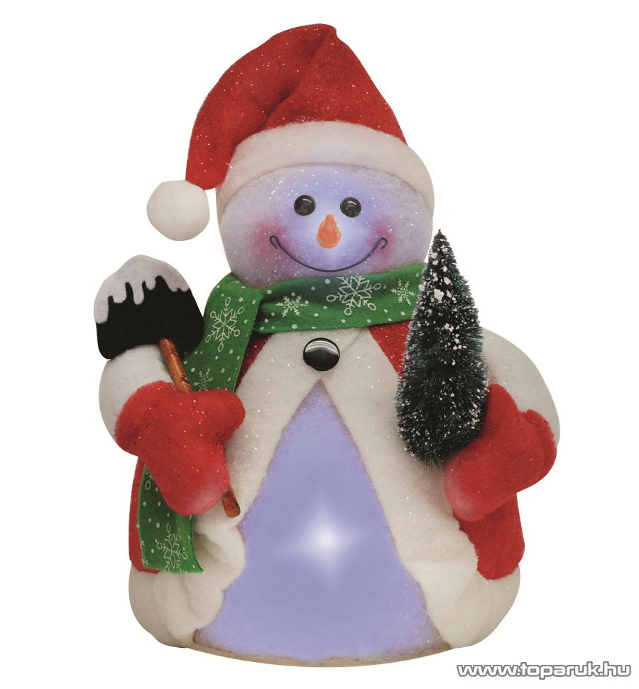 HOME KKD 101 Hóember, színváltó LED-del, 35 cm