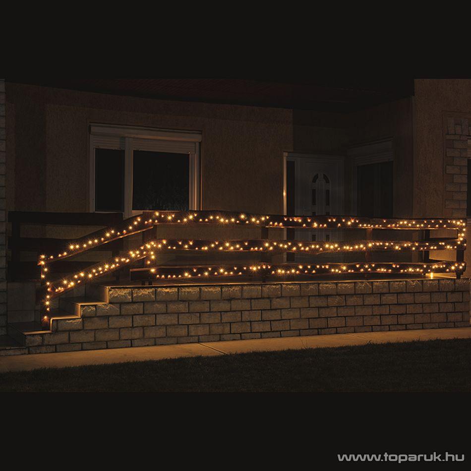 HOME KKL 500/WW Kültéri LED-es fényfüzér, 35 m hosszú, 500 db meleg fehér fényű LED-del, állófényű