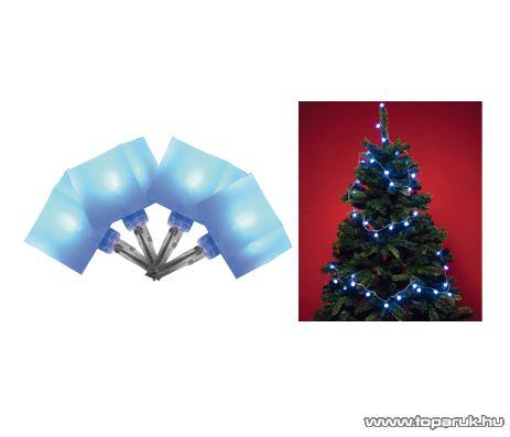 HOME KLC 48/BL Beltéri LED-es fényfüzér, 40 db kék színű rugalmas kocka dekorációval