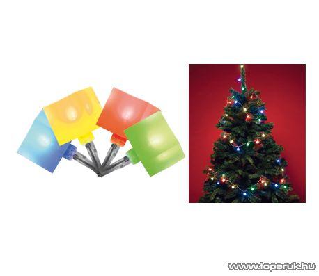 HOME KLC 48/M Beltéri LED-es fényfüzér, 40 db többszínű rugalmas kocka dekorációval
