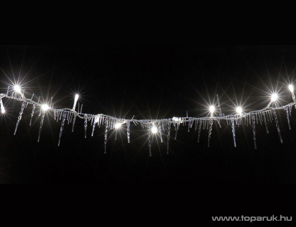 HOME KLG 50 Kültéri LED-es jégcsap fényfüzér, 50 db hidegfehér LED-del, 2,5 m hosszú