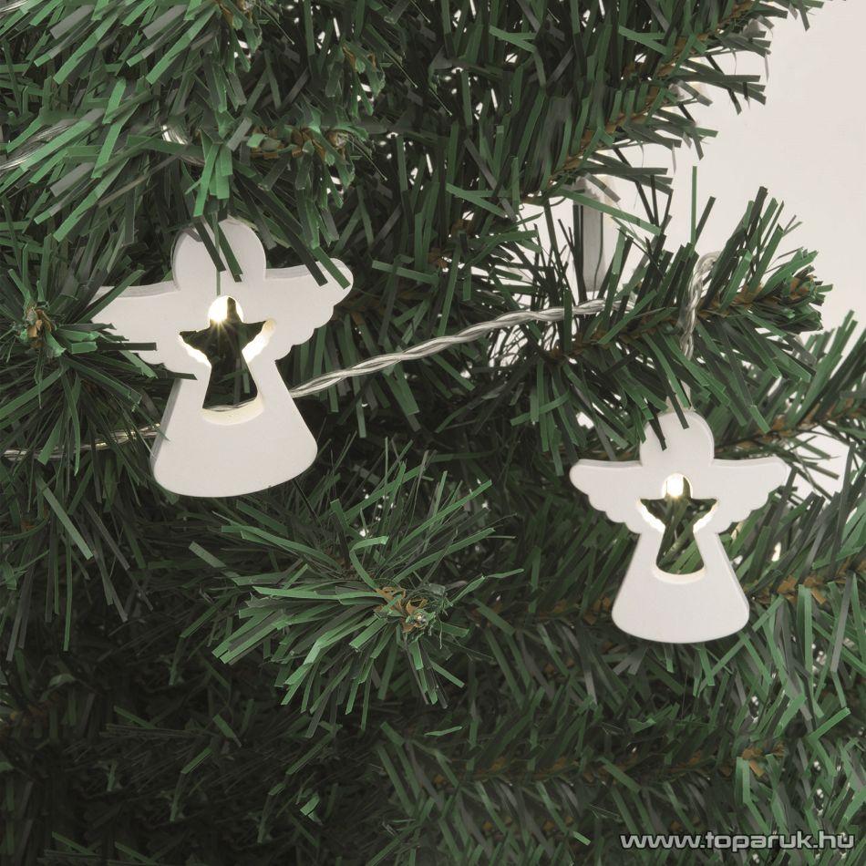 HOME KLW 20 ANGEL Beltéri LED-es, elemes fényfüzér, angyal figurák, meleg fehér világítással
