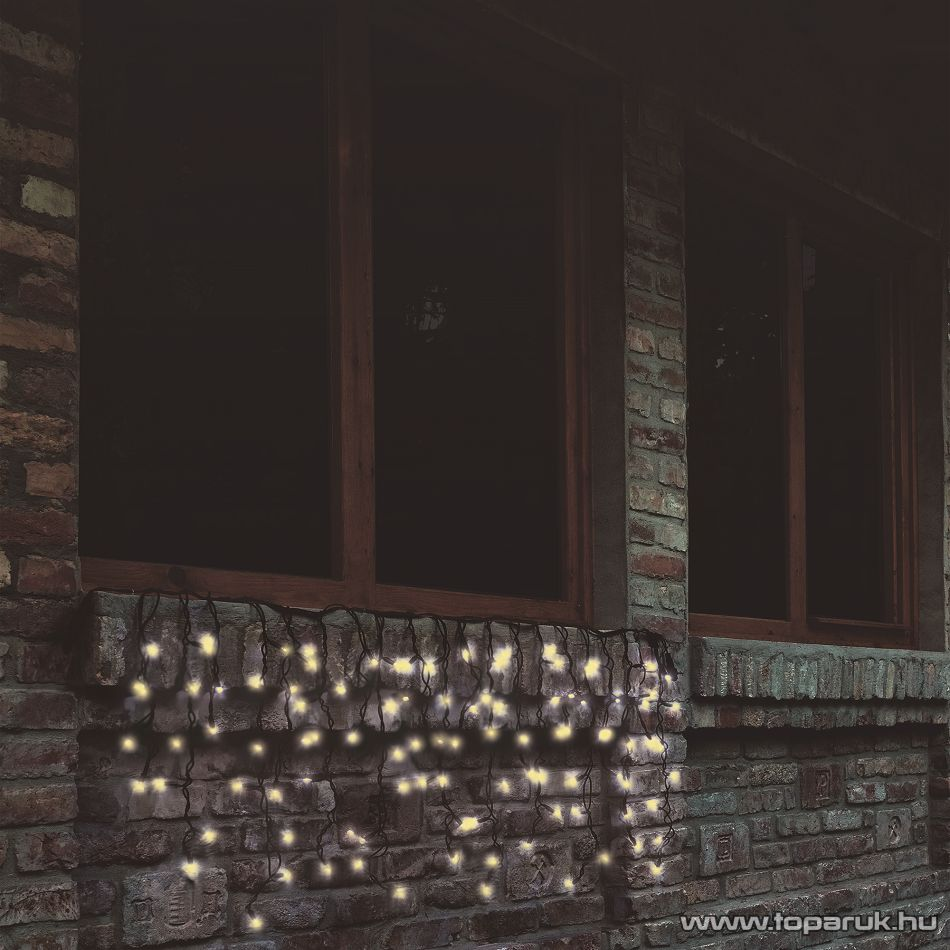 HOME KTF 100/WW Kültéri sorolható fényfüggöny, 100 db melegfehér LED-del, 2 m hosszú