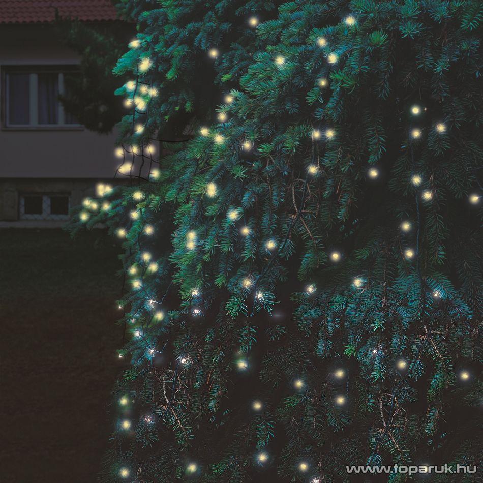 HOME KTH 240/WW 3x3 Kültéri sorolható LED-es fényháló, 300 x 300 cm, 240 db melegfehér LED-del