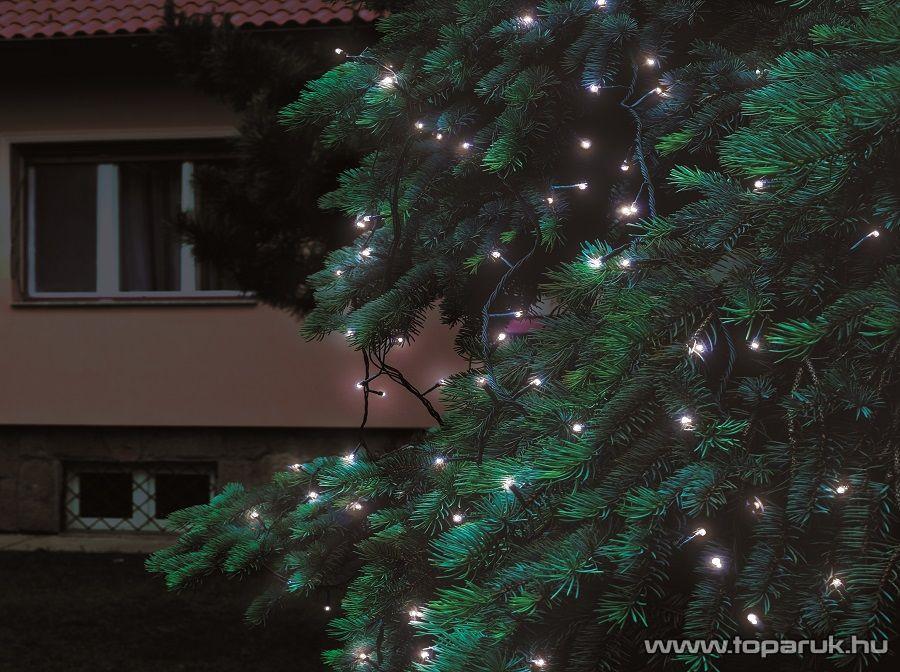 HOME KTI 100/WH Kültéri sorolható LED-es fényfüzér, 100 db hidegfehér LED-del, 10 m hosszú