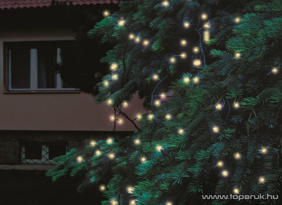 HOME KTI 200/WW Kültéri sorolható LED-es fényfüzér, 200 db meleg fehér fényű leddel, 20 m hosszú