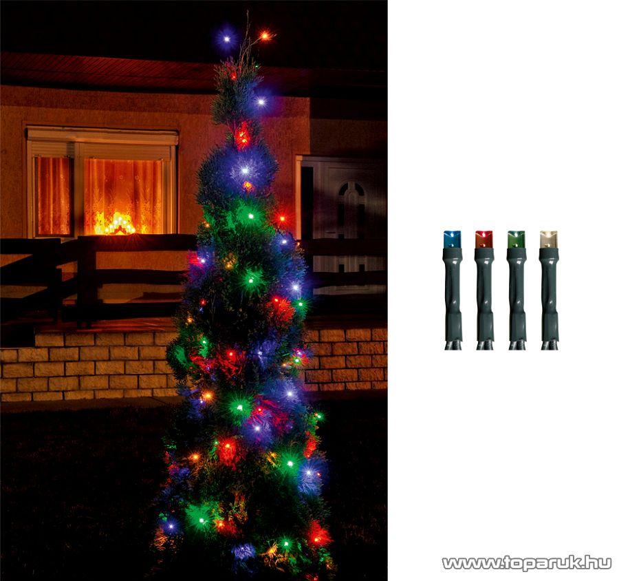 HOME LED 108/M Kültéri LED-es fényfüzér, 7 m hosszú, 100 db multi (színes) fényű LED-del, 8 programos, memóriás