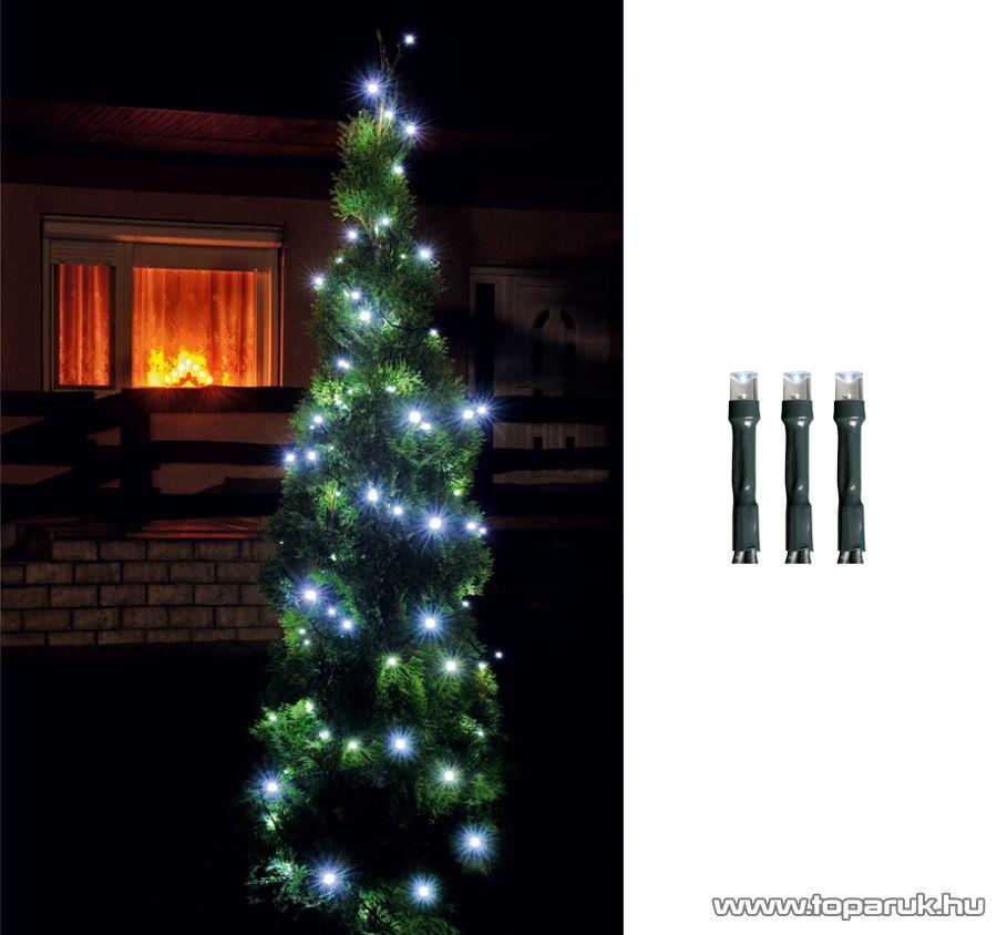 HOME LED 108/WH Kültéri LED-es fényfüzér, 7 m hosszú, 100 db hideg fehér fényű LED-del, 8 programos, memóriás