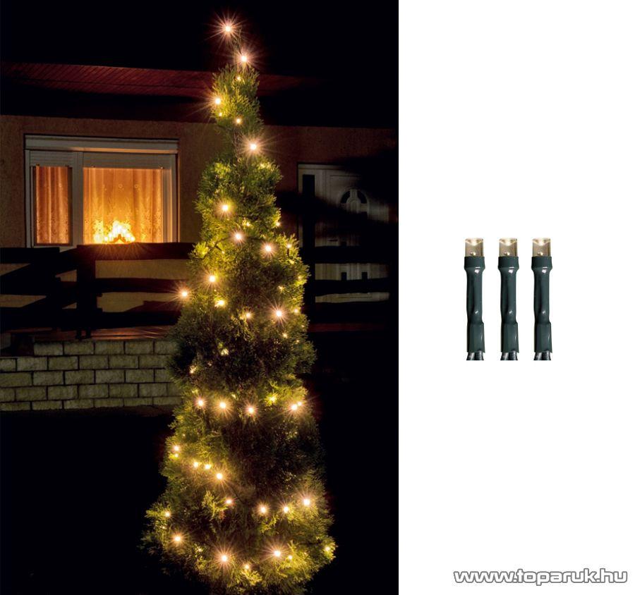 HOME LED 108/WW Kültéri LED-es fényfüzér, 7 m hosszú, 100 db meleg fehér fényű LED-del, 8 programos, memóriás
