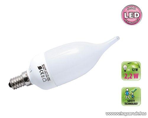 HOME LGL 2.2/14M SMD LED fényforrás, gyertyaláng, 2,2 W, E14, 2900 K
