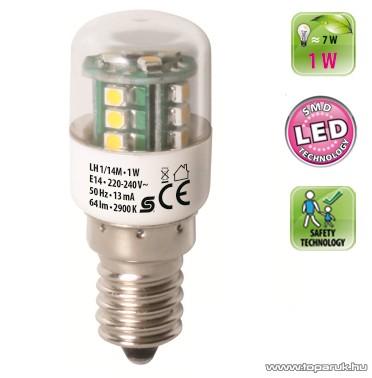 HOME LH 1/14M SMD LED fényforrás, 1,0 W / E14 / 2900 K / 64 lm, henger