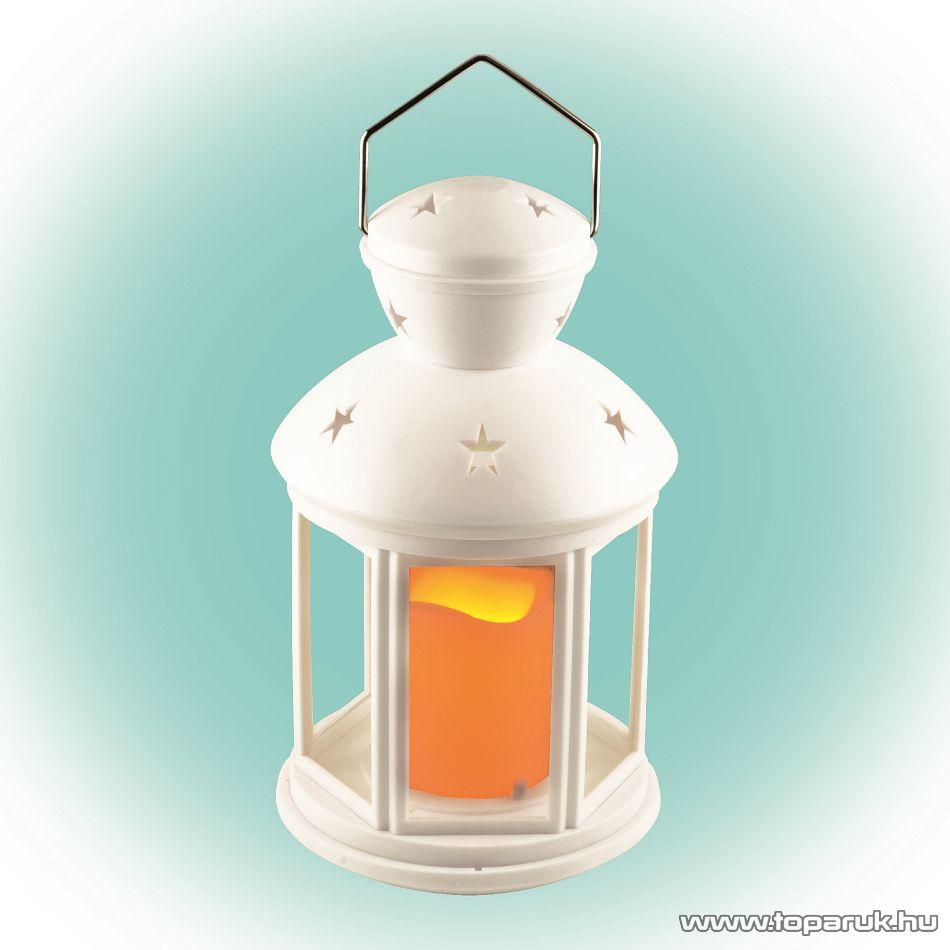 HOME LTN 1/WH Beltéri lámpás LED-es gyertyával, fehér