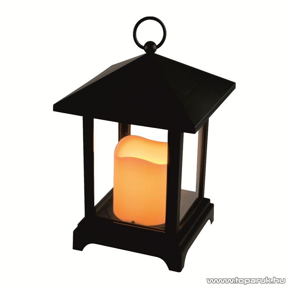HOME LTN 2/BK Beltéri lámpás LED-es gyertyával, fekete