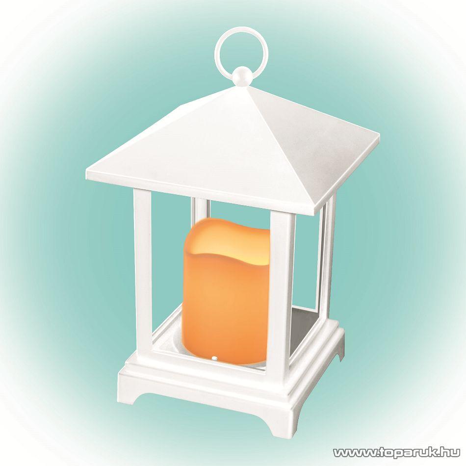 HOME LTN 2/WH Beltéri lámpás LED-es gyertyával, fehér
