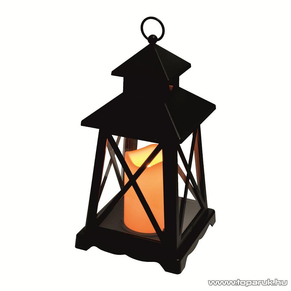 HOME LTN 3/BK Beltéri lámpás LED-es gyertyával, fekete