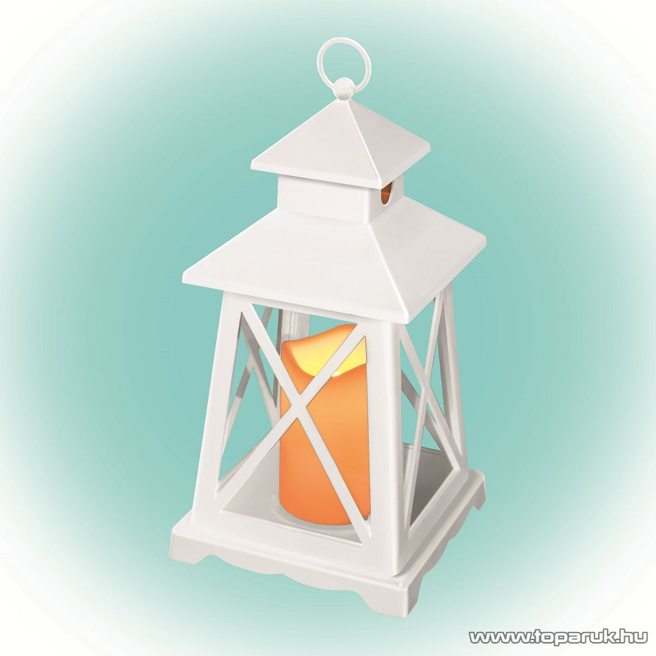 HOME LTN 3/WH Beltéri lámpás LED-es gyertyával, fehér