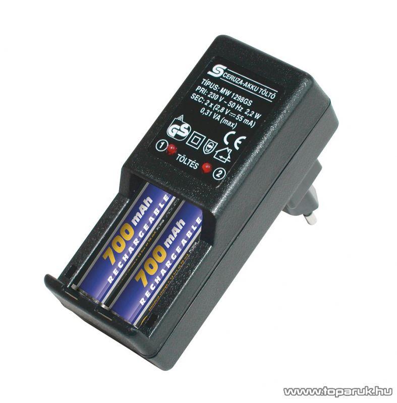 HOME MW 1298/7AA4 Akkumulátortöltő szett Ni-Cd és Ni-Mh akkuk töltésére