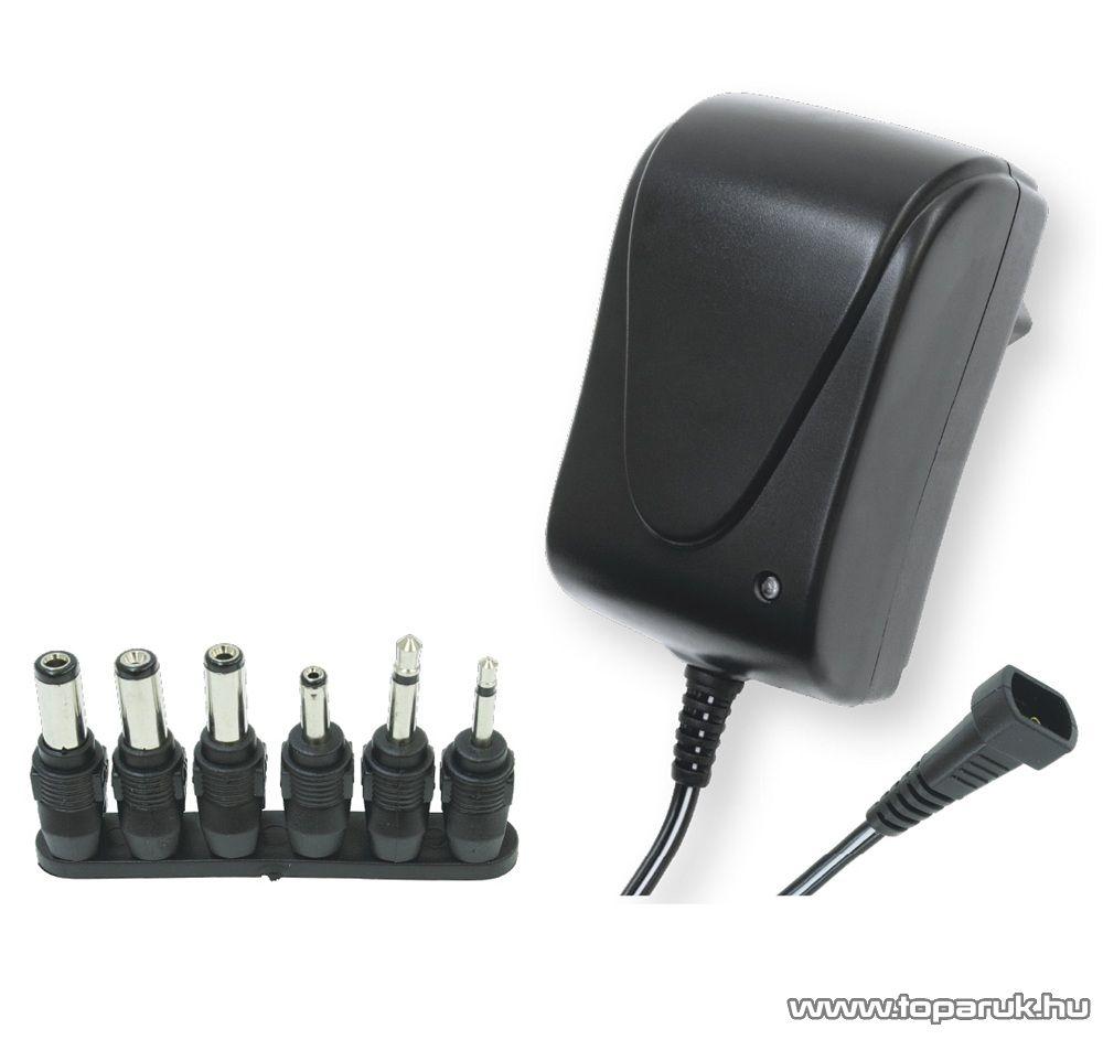 HOME MW 3R15 Változtatható feszültségű hálózati adapter, 1500 mA, 3-12 V
