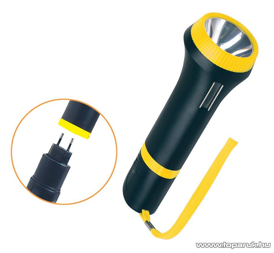 HOME MW 799GS/YE Hálózatra csatlakoztatható, tölthető zseblámpa, krypton izzóval, sárga