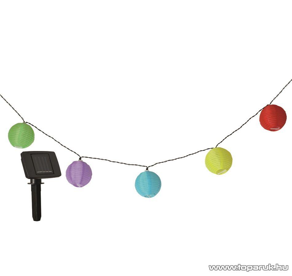HOME MX 202 Napelemes színes lampionfüzér, 10 db lampionnal