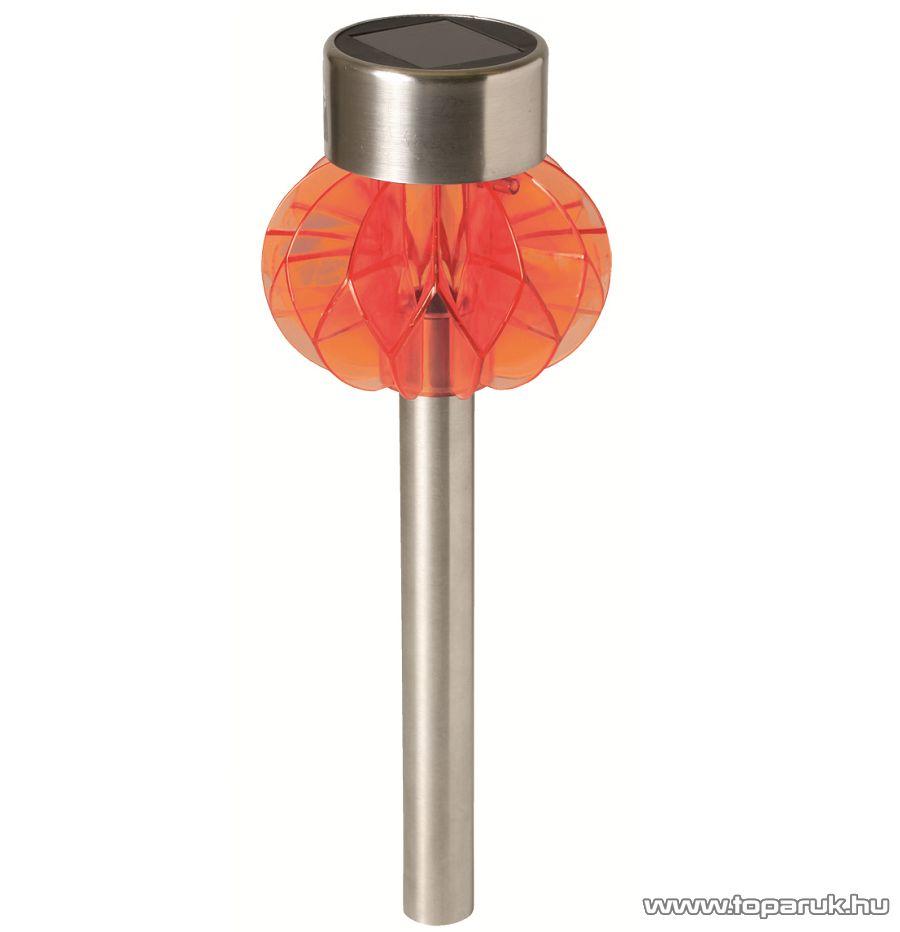 HOME MX 838/OR LED-es fém napelemes kerti lámpa, narancs dekorációval