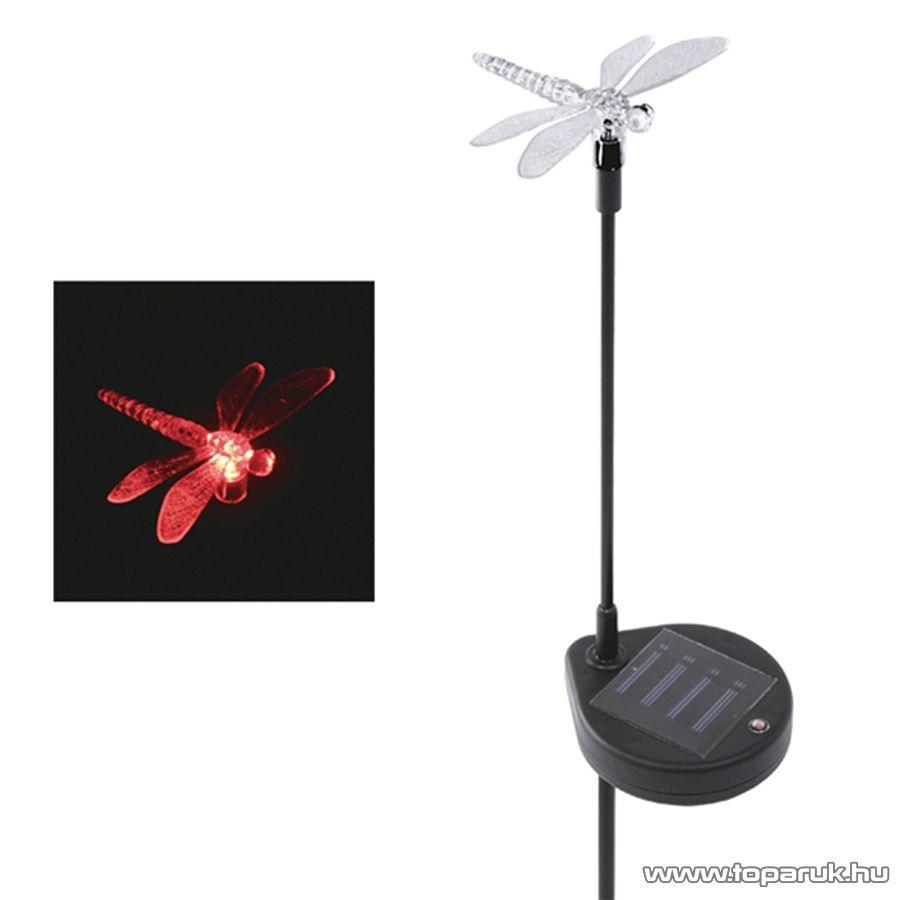 HOME MX 616S Napelemes kerti lámpa, szitakötő design - készlethiány