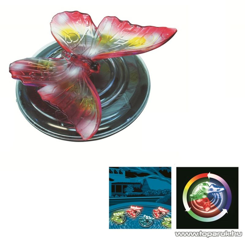 HOME MX 620P Úszó napelemes dekoráció, pillangó - megszűnt termék: 2014. október