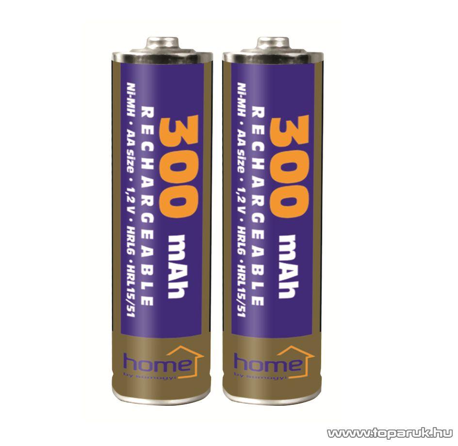 HOME M 300AA/2 - AA ceruza akkumulátor 300 mA, Ni-Mh, 2 db / csomag - megszűnt termék: 2015. július