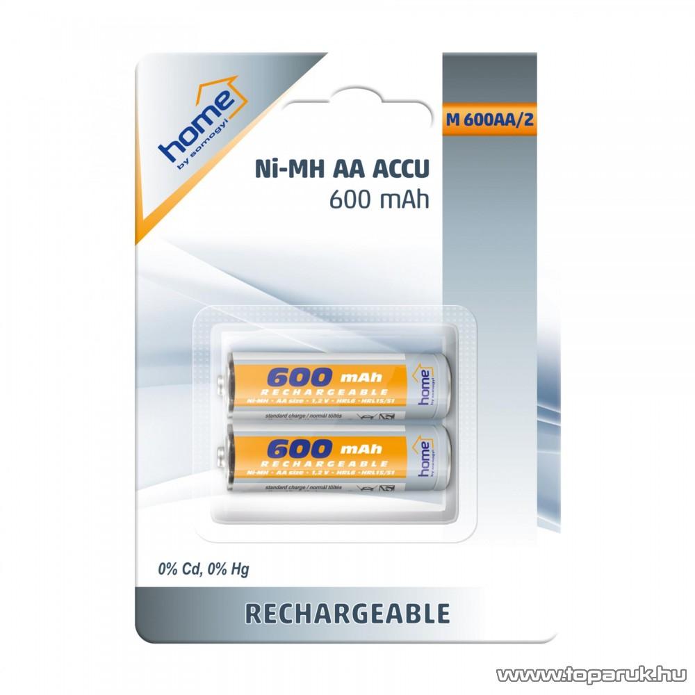 HOME M 600AA/2 - AA ceruza akkumulátor 600 mA, Ni-Mh, 2 db / csomag