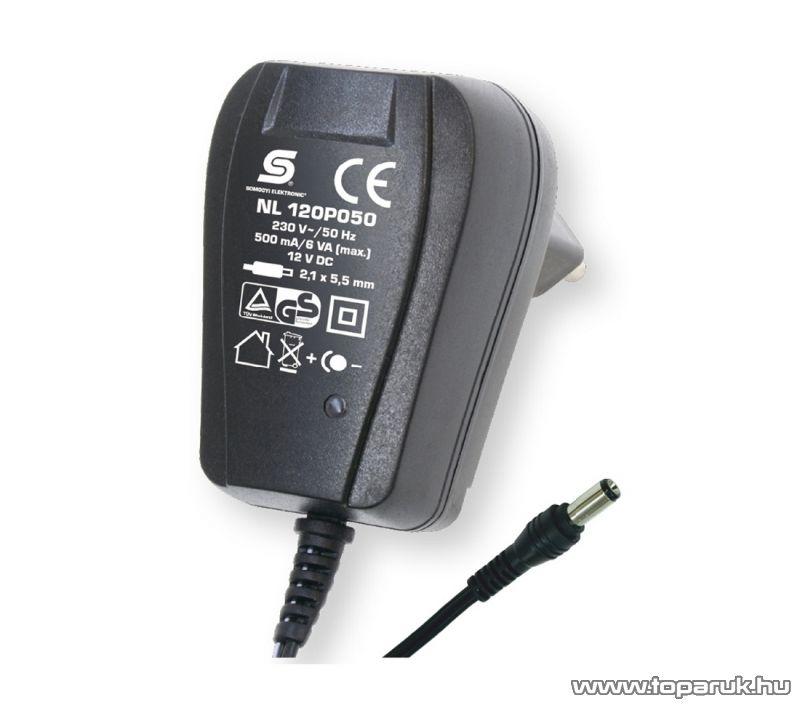 HOME NL 120P050 Fix feszültségű hálózati adapter, 500 mA, 12 V