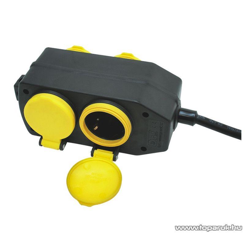 HOME NVO 04-10/BK Kültéri elosztó, 4 aljzat, 10 m H07RN 3G 1.5 mm2 gumi kábellel - megszűnt termék: 2014. november
